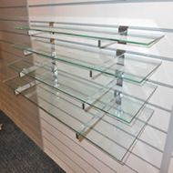 600x200mm Glass Shelves